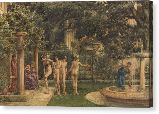 Neoclassical Art Canvas Print - A Visit To Aesculapius by Sir Edward John Poynter