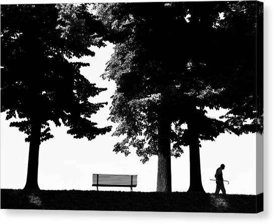 A Walk In The Park Canvas Print by Artecco Fine Art Photography
