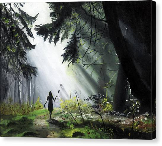 A Walk In The Woods Canvas Print by Chris Wiese