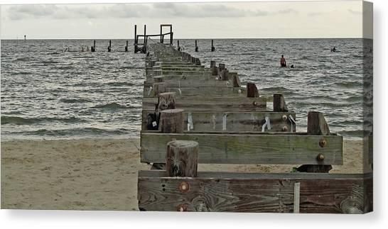 A Walk Into The Gulf Canvas Print by Diane Luke