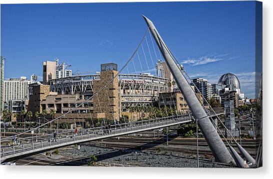 San Diego Padres Canvas Print - A Walk To The Park by Stephen Stookey