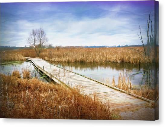 Ohio Canvas Print - A Warm Day In February by Tom Mc Nemar