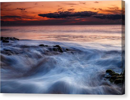 A Wave At Sunset Canvas Print