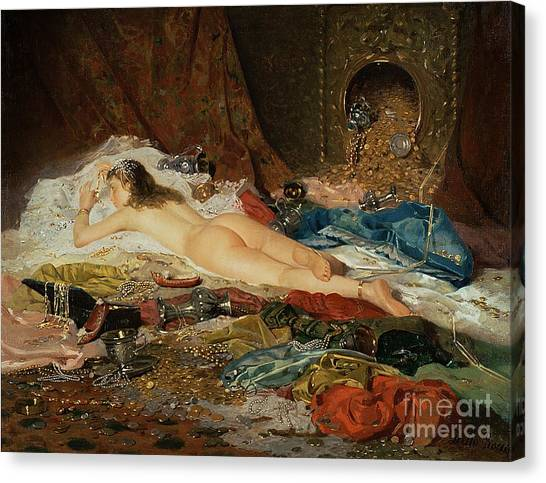 Coins Canvas Print - A Wealth Of Treasure by Della Rocca
