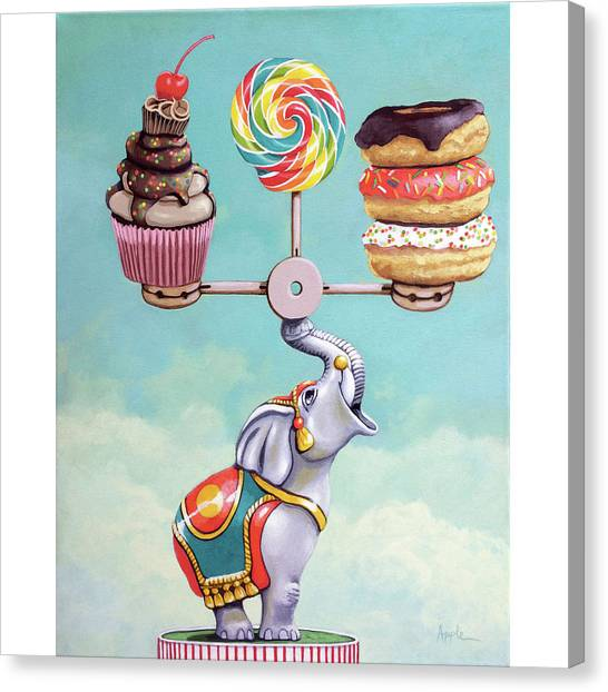 A Well-balanced Diet Canvas Print