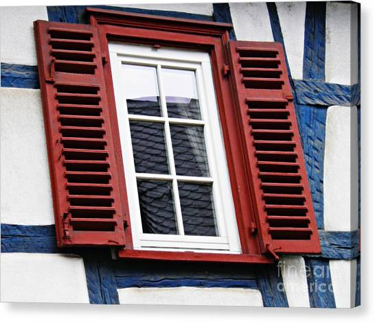 Canvas Print - A Window In Eltville 6 by Sarah Loft