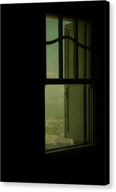 A Window Out To The Sea Canvas Print by Valmir Ribeiro