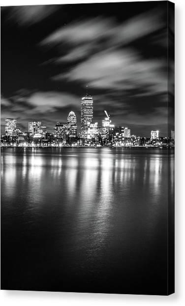 A Windy Night In Boston Canvas Print
