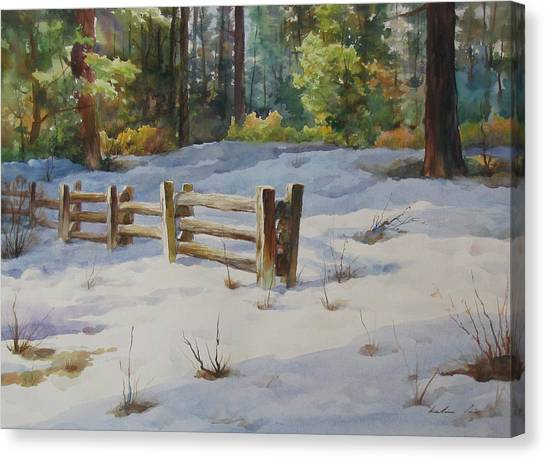 A Winter Morning Canvas Print by Kelvin  Lei