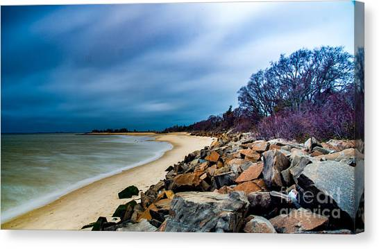 A Winter's Beach Canvas Print