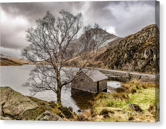 Tryfan Mountain Canvas Print - A Winter's Day by Adrian Evans