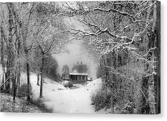 A Winter's Tale In Centerport New York Canvas Print