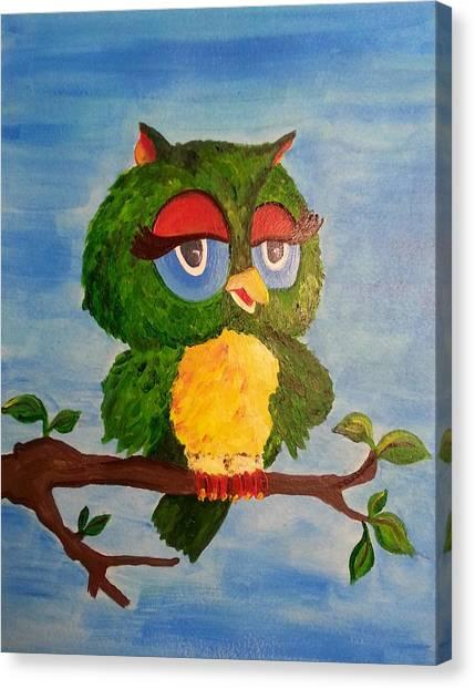 A Wise Bird Canvas Print