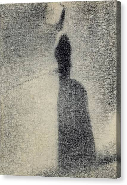 Angler Art Canvas Print - A Woman Fishing by Georges Pierre Seurat