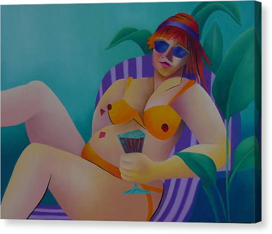 A Woman Of Leisure Canvas Print by Karin Eisermann