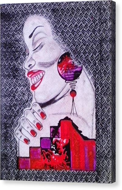A Womans World Canvas Print by Eziagulu Chukwunonso Innocent
