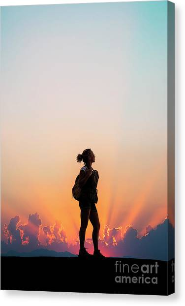 Backpacks Canvas Print - A World Of Adventure by Evelina Kremsdorf