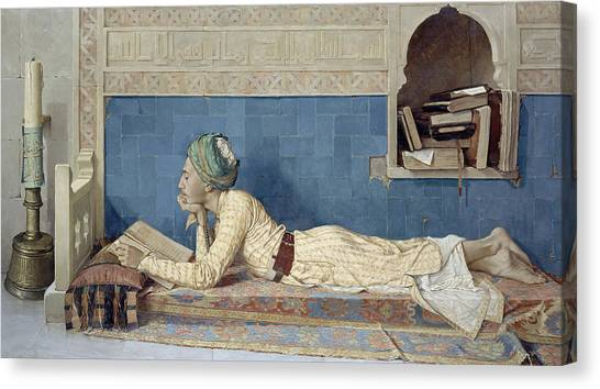 Africa Tiles Canvas Print - A Young Emir by Osman Hamdi Bey