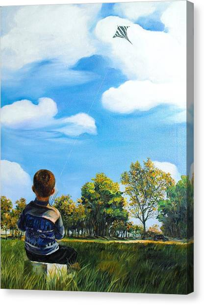 A Young Man Fancy Canvas Print by Min Wang