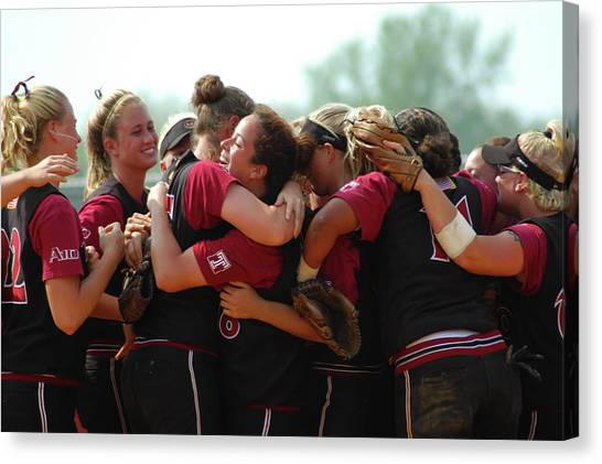 University Of Massachusetts Amherst Umass Amherst Canvas Print - A10 Victory Celebration by Mike Martin