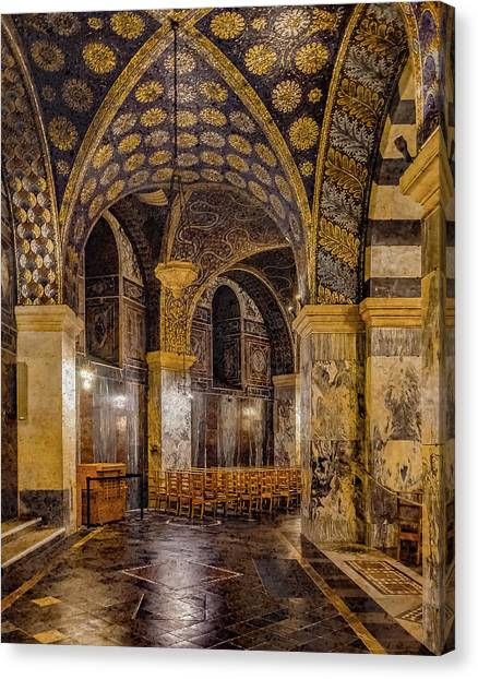 Canvas Print featuring the photograph Aachen, Germany - Cathedral Ambulatory by Mark Forte
