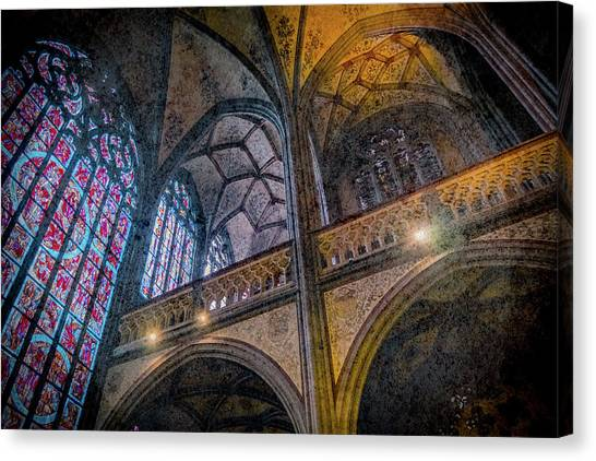Canvas Print featuring the photograph Aachen, Germany - Cathedral - Nikolaus-michaels Chapel by Mark Forte