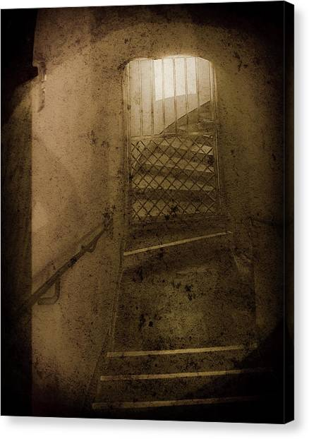 Canvas Print featuring the photograph Aachen, Germany - Cathedral - No Passage by Mark Forte