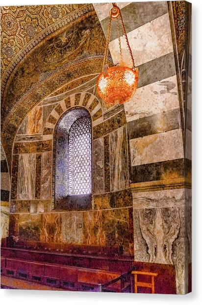 Canvas Print featuring the photograph Aachen, Germany - Cathedral - Upper Gallery by Mark Forte