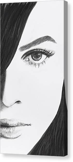 Fineart Canvas Print - Aaliyah by Jeleata Nicole