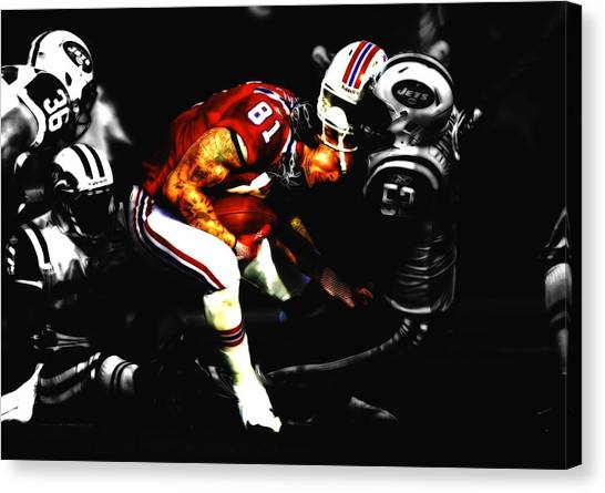 Bill Belichick Canvas Print - Aaron Hernandez by Brian Reaves