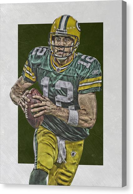 Aaron Rodgers Canvas Print - Aaron Rodgers Green Bay Packers Art by Joe Hamilton