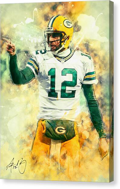 Aaron Rodgers Canvas Print - Aaron Rodgers by Taylan Soyturk
