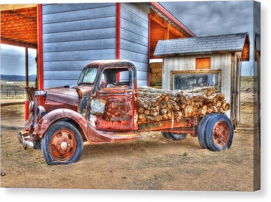 Abandon Truck On Route 66 Canvas Print