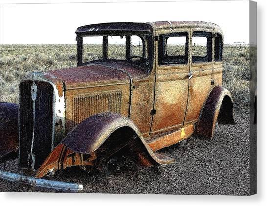 Abandonded Along Rt 66 Canvas Print