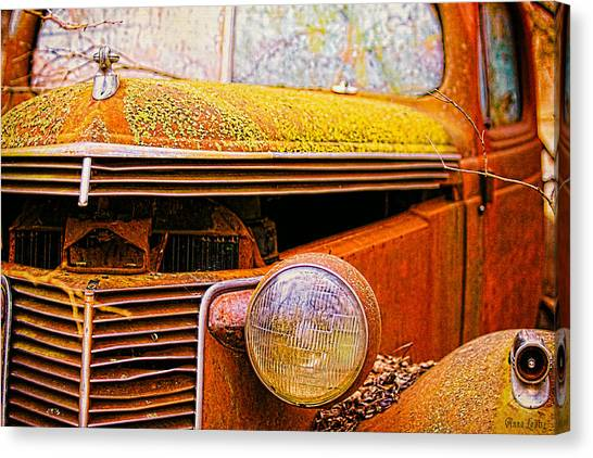 Abandoned Antique Truck 2 Canvas Print