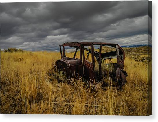 Abandoned Auto Canvas Print