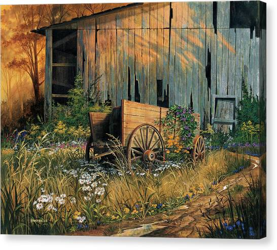 Wagon Canvas Print - Abandoned Beauty by Michael Humphries