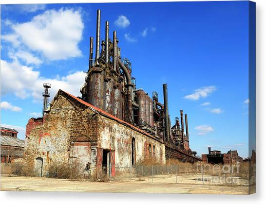 Abandoned Bethlehem Steel Canvas Print by John Rizzuto