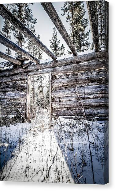 Abandoned Cabin Canvas Print by Bryan Moore