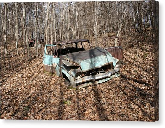 Abandoned Car 1 Canvas Print