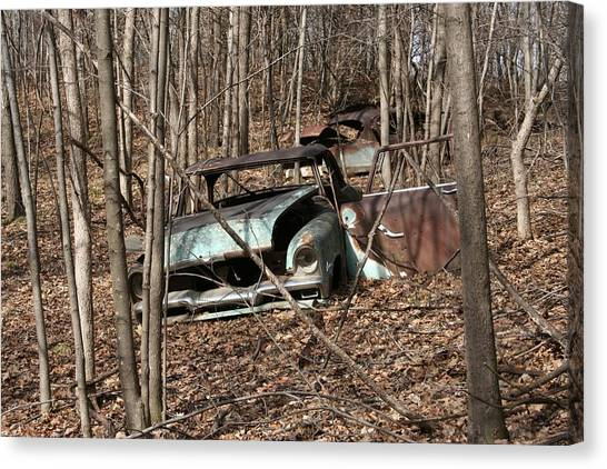 Abandoned Car 2 Canvas Print