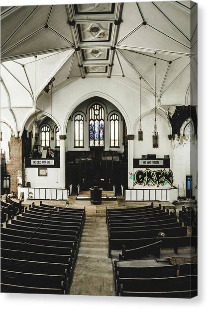 Abandoned Church. Dilapidated Church In St. Louis Canvas Print by Dylan Murphy