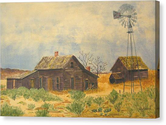 Abandoned Farm Canvas Print by Ally Benbrook