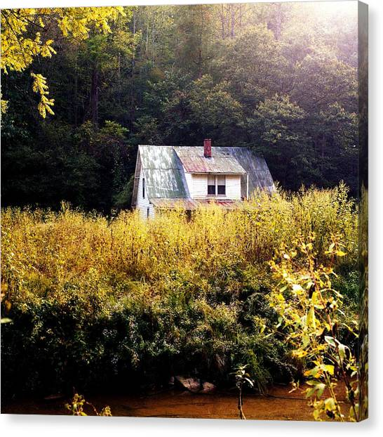 Abandoned Farm Home Canvas Print by George Ferrell