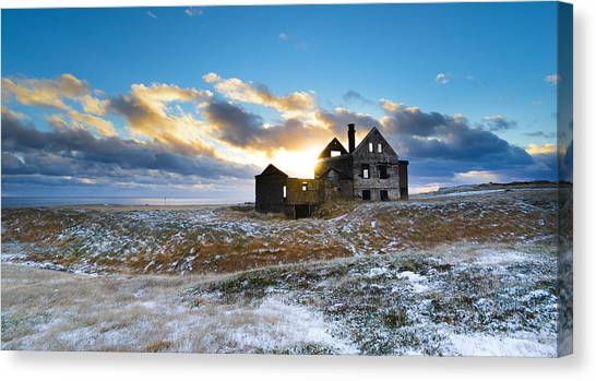 Abandoned Farm On The Snaefellsnes Peninsula Canvas Print