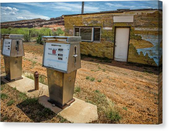 Abandoned Gas Station Canvas Print