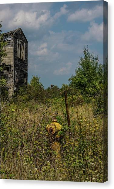 Abandoned Hydrant Canvas Print