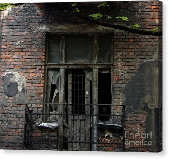 Abandoned Krakow Poland Canvas Print by Wayne Higgs