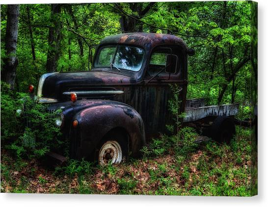Abandoned - Old Ford Truck Canvas Print