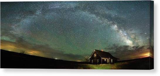 Old Houses Canvas Print - Abandoned On The Plains by Darren White